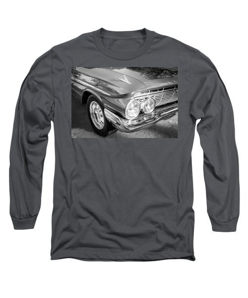 1961 Chevrolet Impala Ss Bw Long Sleeve T-Shirt by Rich Franco