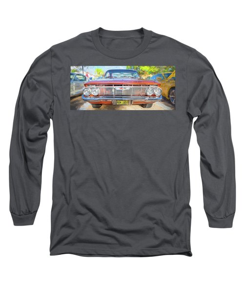 1961 Chevrolet Impala Ss  Long Sleeve T-Shirt by Rich Franco