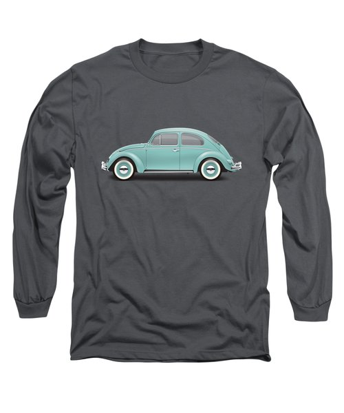 1961 Volkswagen Deluxe Sedan - Turquoise Long Sleeve T-Shirt by Ed Jackson