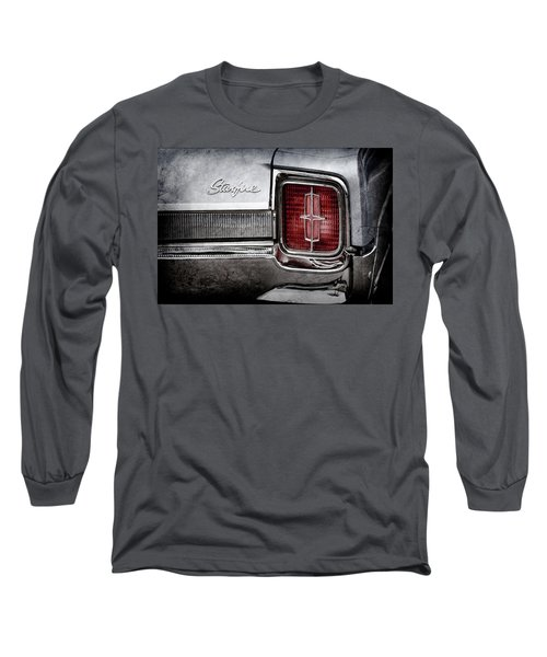 Long Sleeve T-Shirt featuring the photograph 1965 Oldsmobile Starfire Taillight Emblem -0212ac by Jill Reger