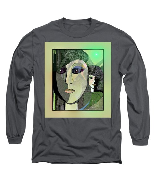 Long Sleeve T-Shirt featuring the digital art 1968 - A Dolls Head by Irmgard Schoendorf Welch