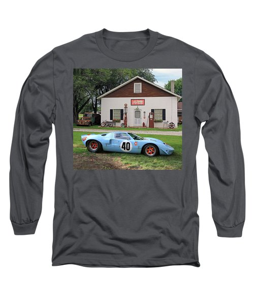 Long Sleeve T-Shirt featuring the photograph 1968 Gulf Mirage In Missouri by Christopher McKenzie