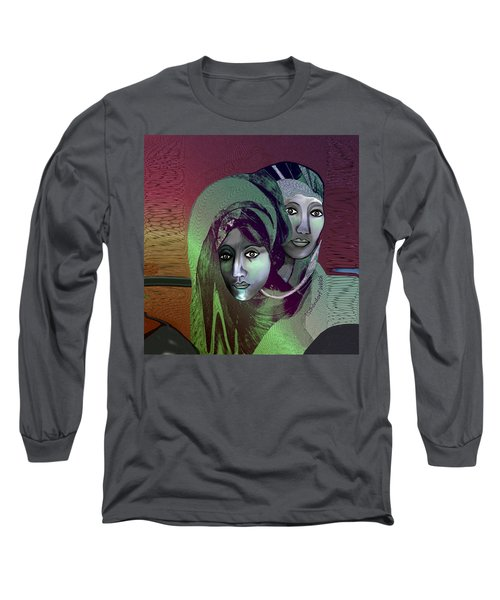 Long Sleeve T-Shirt featuring the digital art 1972 - 0n A Gloomy Day - 2017 by Irmgard Schoendorf Welch