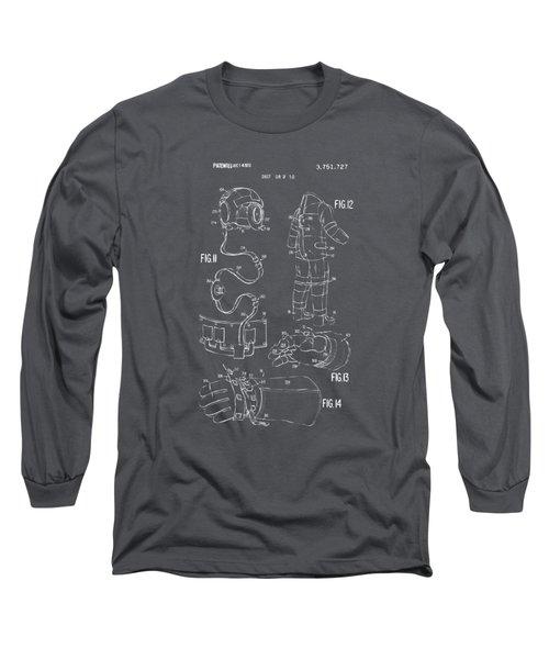 1973 Space Suit Elements Patent Artwork - Gray Long Sleeve T-Shirt