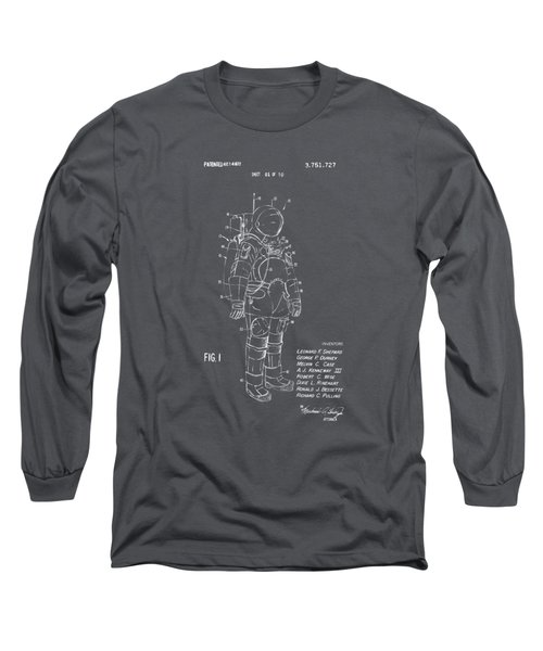 1973 Space Suit Patent Inventors Artwork - Gray Long Sleeve T-Shirt