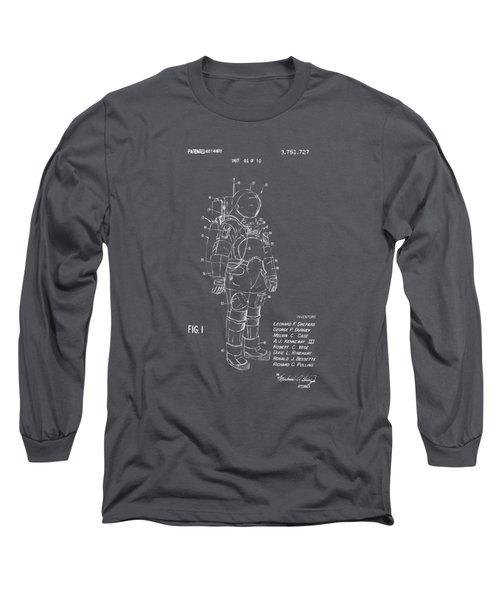 1973 Space Suit Patent Inventors Artwork - Gray Long Sleeve T-Shirt