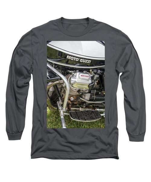 Long Sleeve T-Shirt featuring the photograph 1976 Moto Guzzi V1000 Convert by Roger Mullenhour
