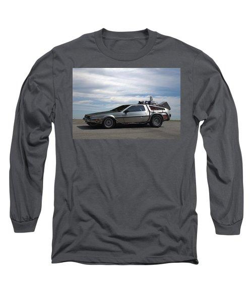Long Sleeve T-Shirt featuring the photograph 1981 Delorean Dmc12 by Tim McCullough