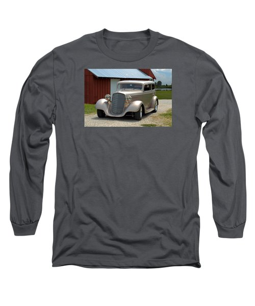 1934 Chevrolet Sedan Hot Rod Long Sleeve T-Shirt by Tim McCullough