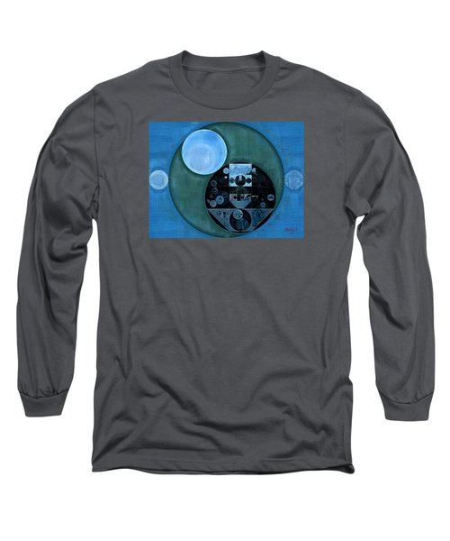 Abstract Painting - Lapis Lazuli Long Sleeve T-Shirt