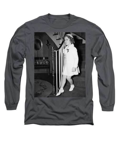 Actress Shirley Temple Long Sleeve T-Shirt by Underwood Archives