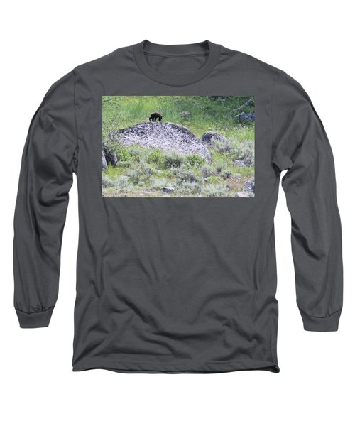 American Black Bear Yellowstone Usa Long Sleeve T-Shirt