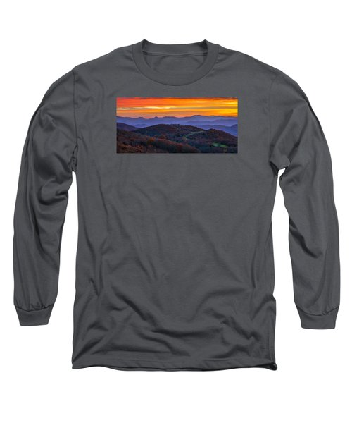Appalachian Sunrise Long Sleeve T-Shirt by Serge Skiba
