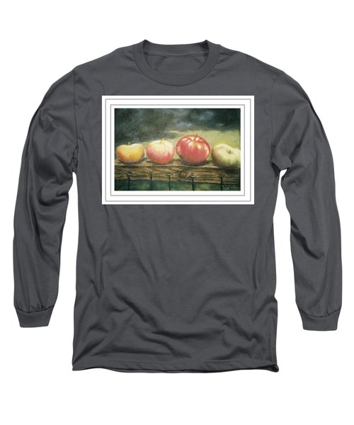 Apples On A Rail Long Sleeve T-Shirt