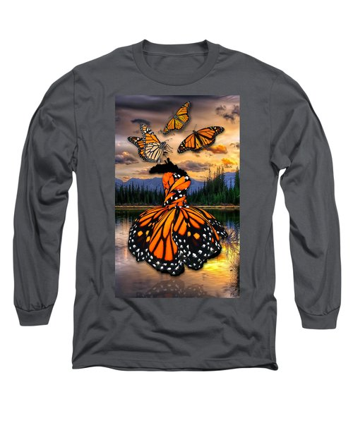 Long Sleeve T-Shirt featuring the mixed media Believe by Marvin Blaine
