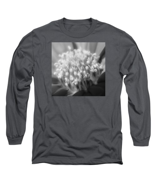 Black And White Flowers Long Sleeve T-Shirt