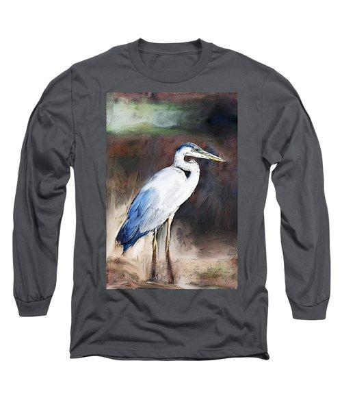Blue Heron II  Long Sleeve T-Shirt