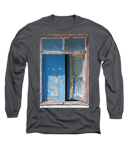 Blue Window Long Sleeve T-Shirt