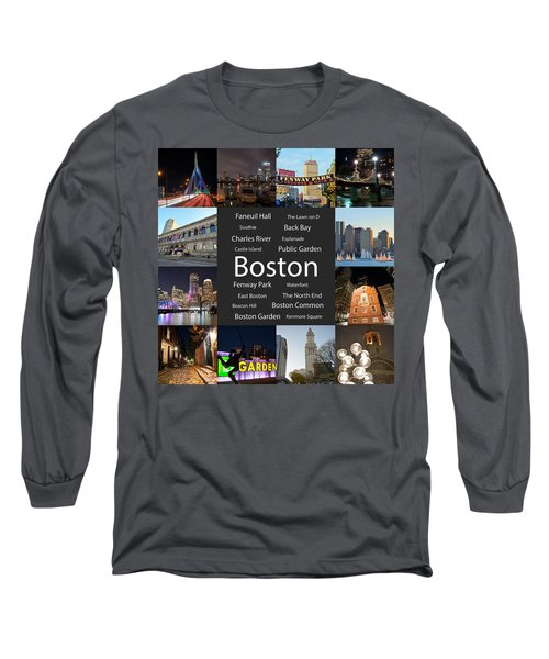 Boston Ma Collage Long Sleeve T-Shirt