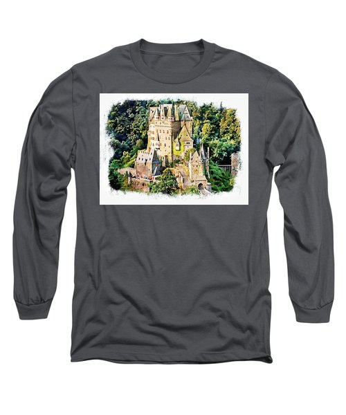 Long Sleeve T-Shirt featuring the photograph Burg Eltz - Moselle by Joseph Hendrix