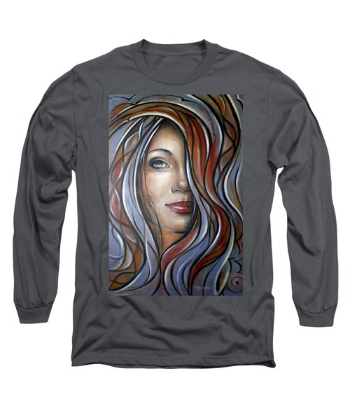 Cool Blue Smile 070709 Long Sleeve T-Shirt by Selena Boron