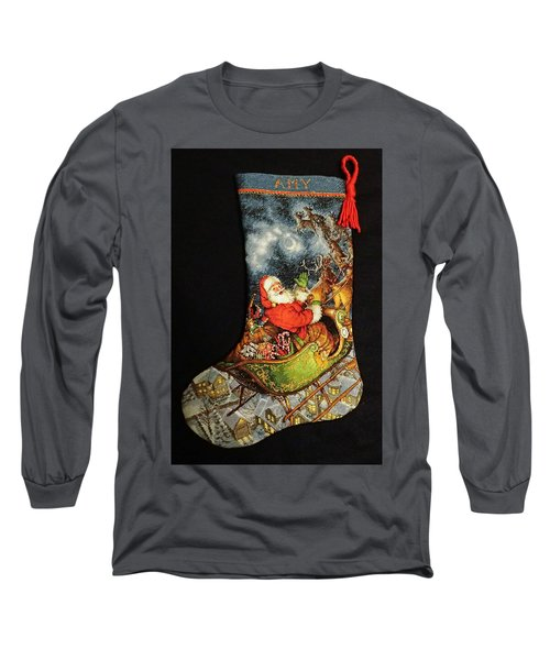 Cross-stitch Stocking Long Sleeve T-Shirt