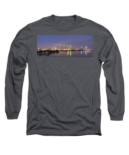 Dallas Skyline Twilight Long Sleeve T-Shirt