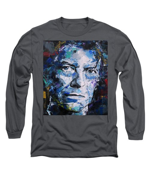 Long Sleeve T-Shirt featuring the painting David Bowie by Richard Day