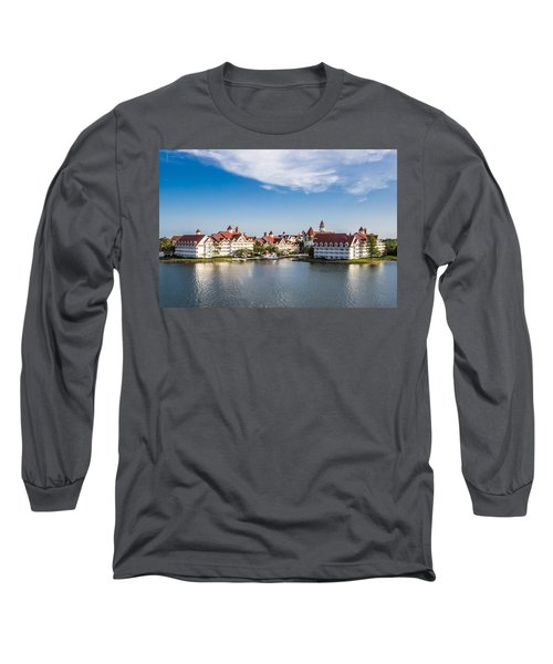 Disney's Grand Floridian Resort And Spa Long Sleeve T-Shirt by Sara Frank