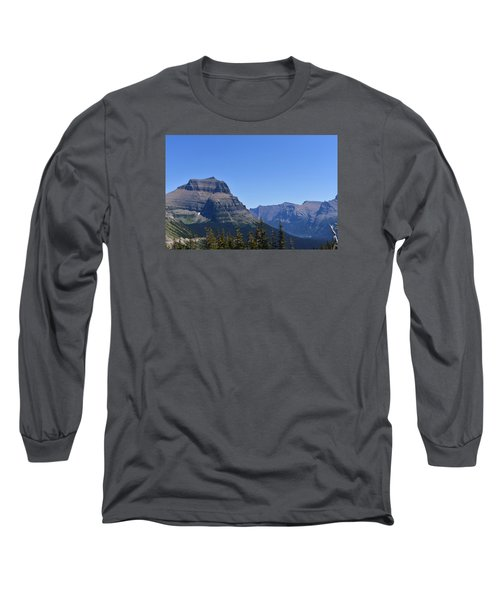 Fire Within Glacier National Park Long Sleeve T-Shirt by Dacia Doroff