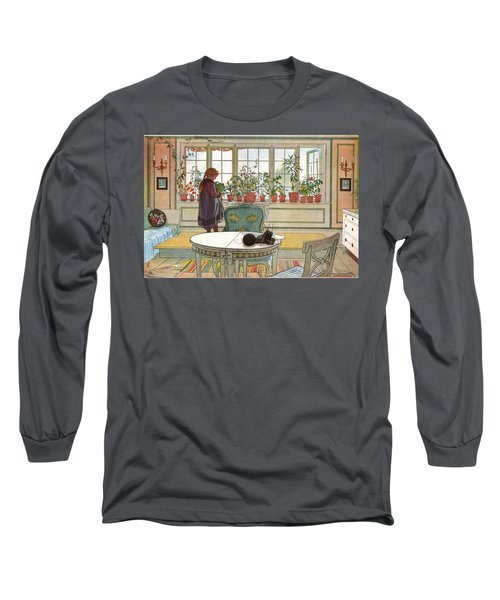 Flowers On The Windowsill Long Sleeve T-Shirt
