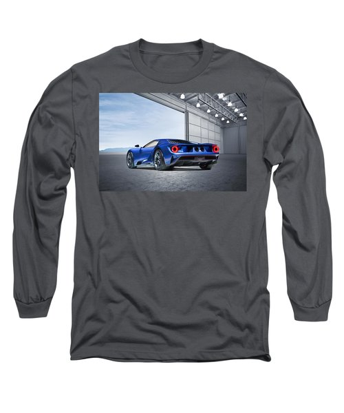 Long Sleeve T-Shirt featuring the digital art Ford Gt by Peter Chilelli