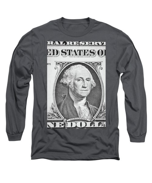 Long Sleeve T-Shirt featuring the photograph George Washington by Les Cunliffe