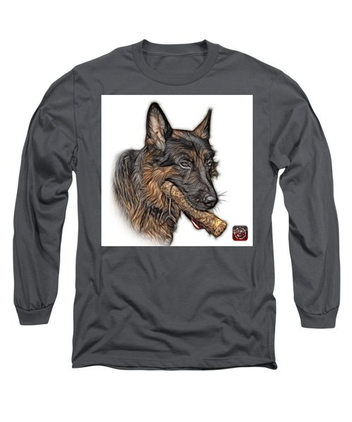 Long Sleeve T-Shirt featuring the digital art German Shepherd And Toy - 0745 F by James Ahn