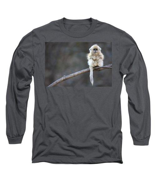 Golden Snub-nosed Monkey Rhinopithecus Long Sleeve T-Shirt