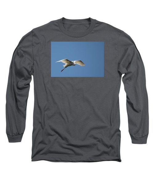 Great Egret Long Sleeve T-Shirt by Linda Geiger