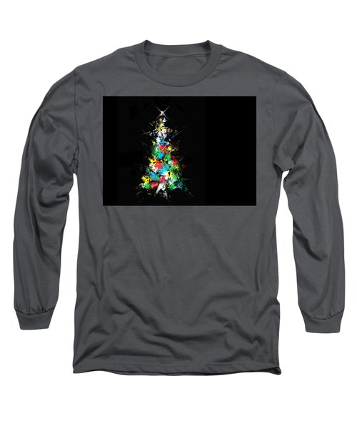 Happy Holidays Long Sleeve T-Shirt by Ludwig Keck