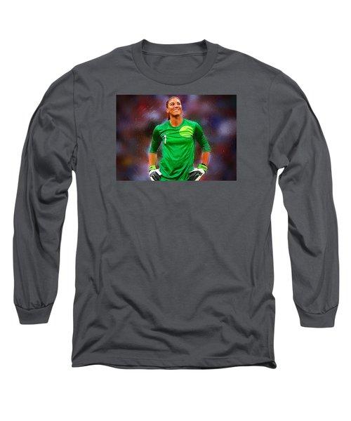 Hope Solo Long Sleeve T-Shirt by Semih Yurdabak