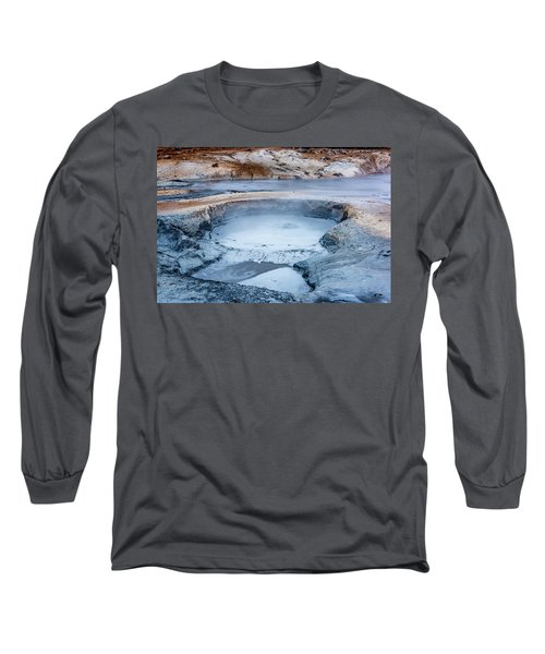 Hverir Steam Vents In Iceland Long Sleeve T-Shirt