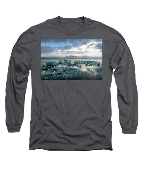 Long Sleeve T-Shirt featuring the photograph Jokulsarlon, The Glacier Lagoon, Iceland 3 by Dubi Roman
