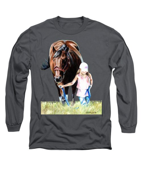 Just A Girl And Her Horse  Long Sleeve T-Shirt by Shana Rowe Jackson