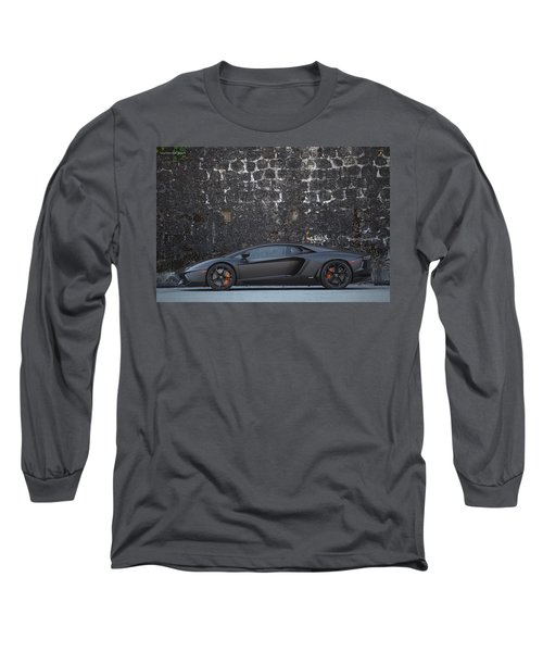 Long Sleeve T-Shirt featuring the photograph #lamborghini #aventador  by ItzKirb Photography