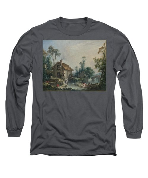 Landscape With A Watermill Long Sleeve T-Shirt