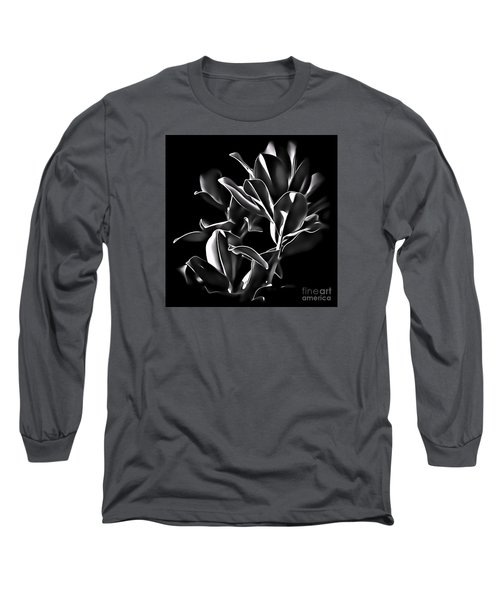 Magnolia Leaves Long Sleeve T-Shirt by Walt Foegelle