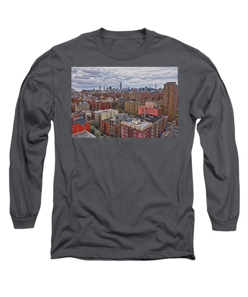 Long Sleeve T-Shirt featuring the photograph Manhattan Landscape by Joan Reese