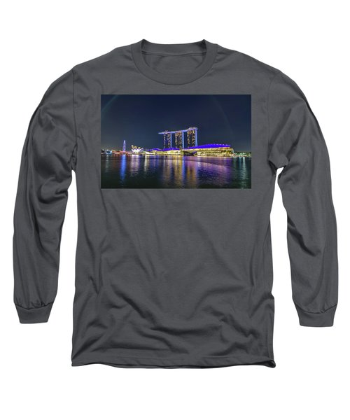 Marina Bay Sands And The Artscience Museum In Singapore Long Sleeve T-Shirt
