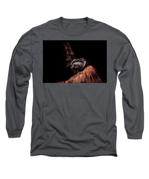 Orangutan Long Sleeve T-Shirt by Martin Newman