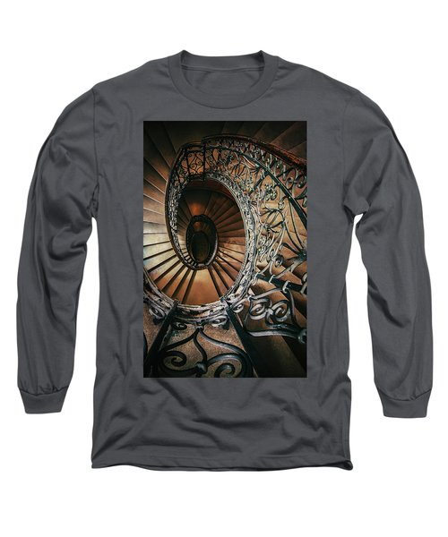 Long Sleeve T-Shirt featuring the photograph Ornamented Spiral Staircase by Jaroslaw Blaminsky