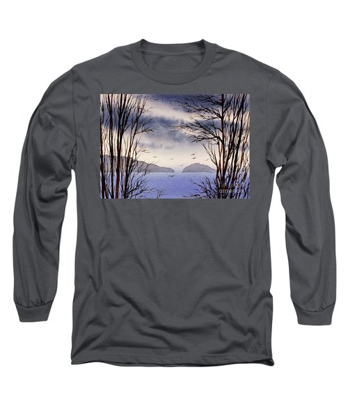 Long Sleeve T-Shirt featuring the painting Quiet Shore by James Williamson