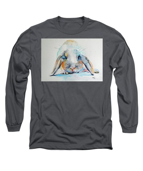 Rabbit Long Sleeve T-Shirt by Kovacs Anna Brigitta